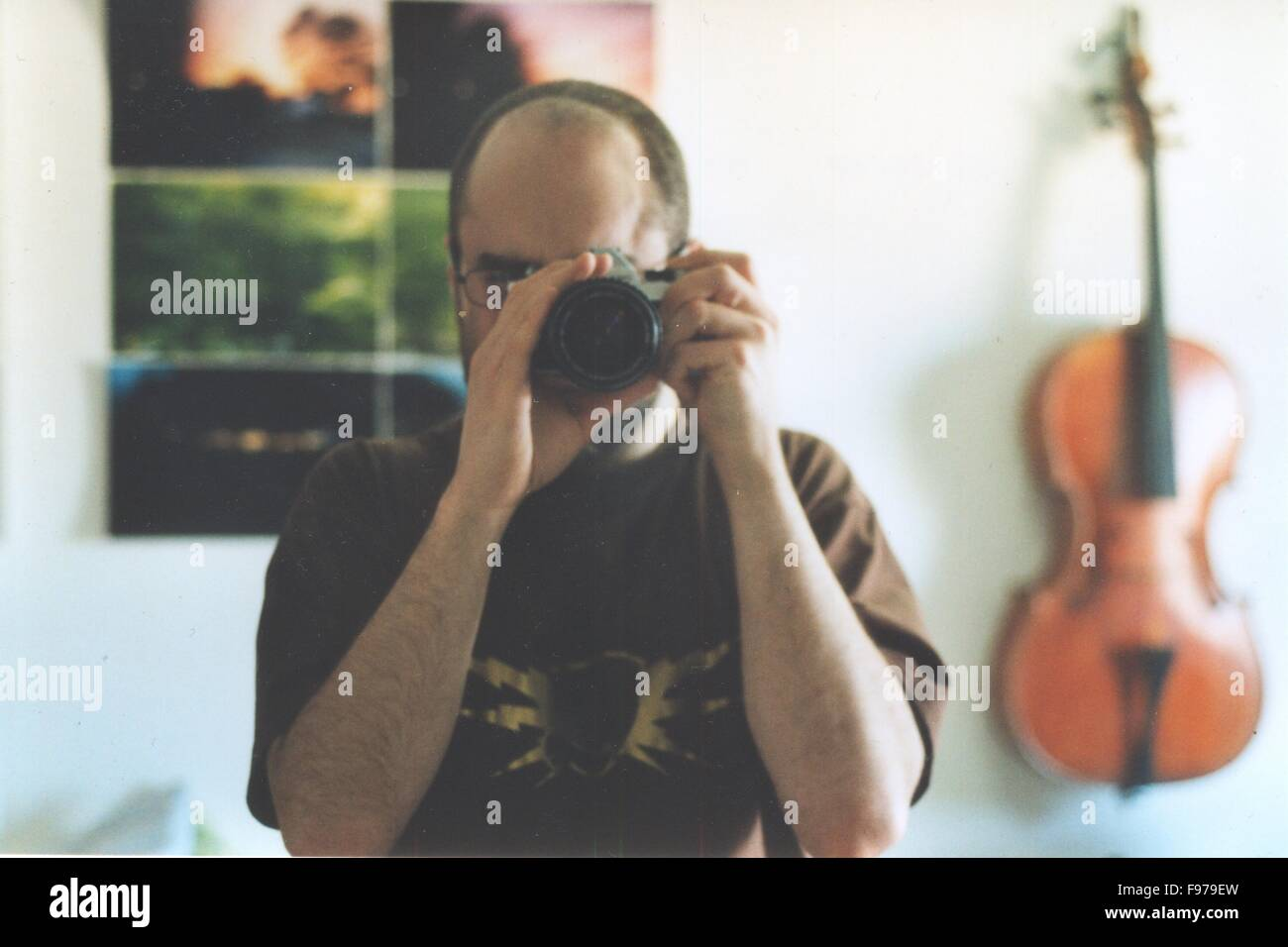 Close-Up Of A Male Photographer - Stock Image