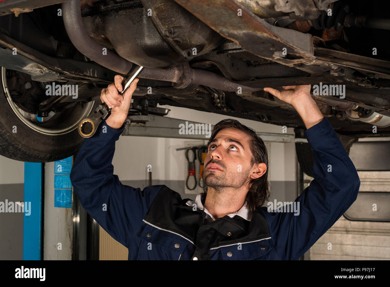 Auto mechanic portrait - Stock Image