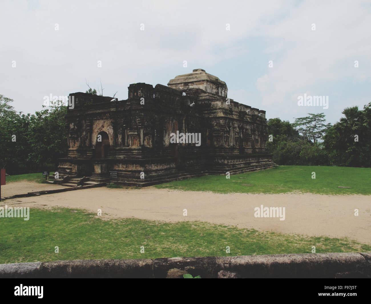 Old Ruined Temple - Stock Image