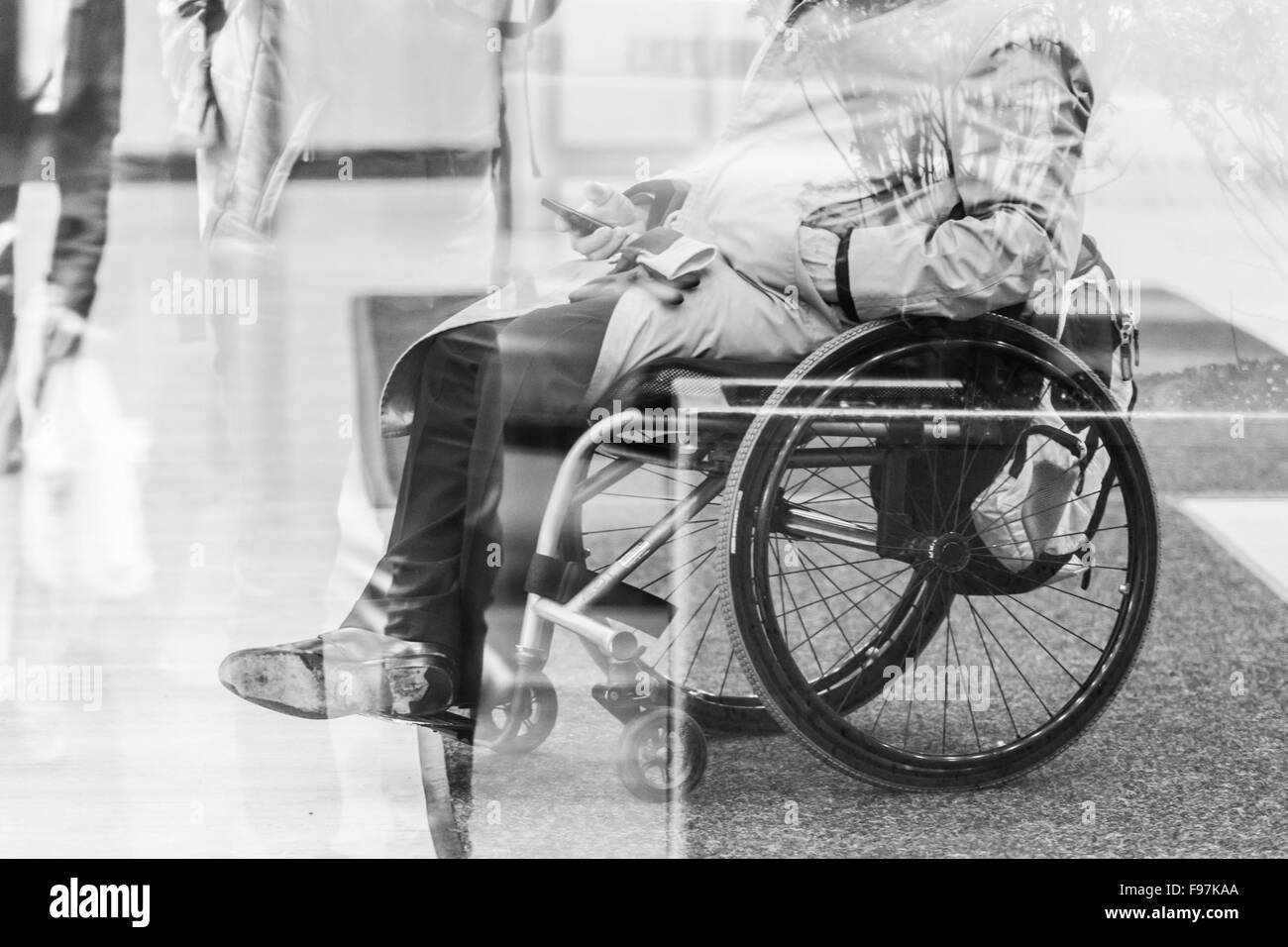 Disabled people active for life. - Stock Image