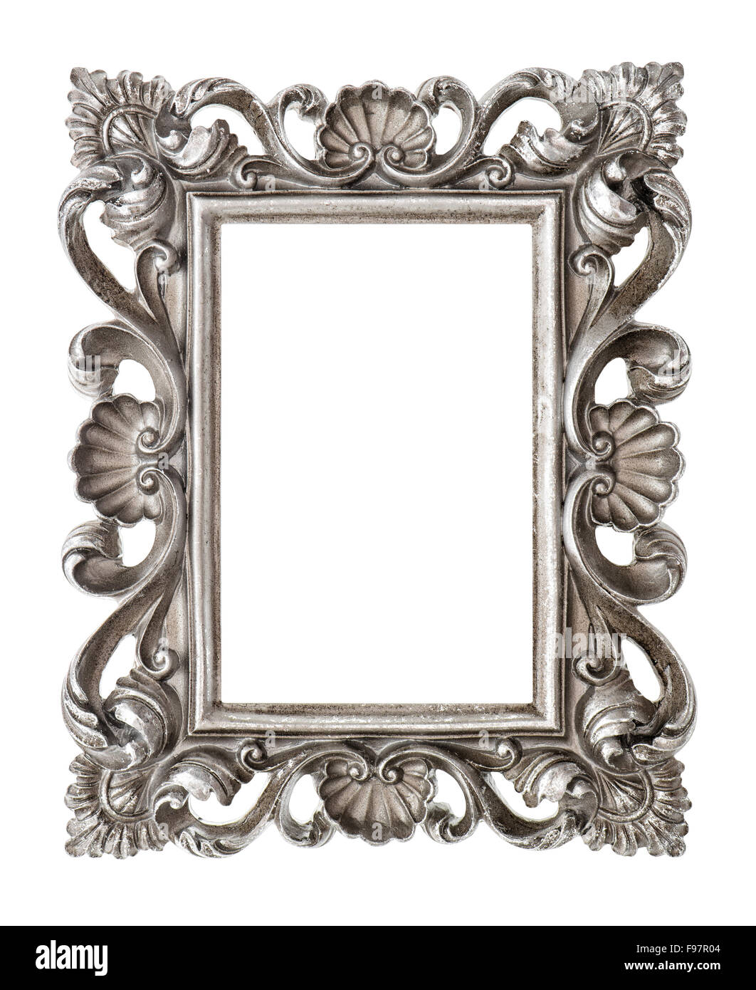 Frame your picture, photo, image. Vintage silver baroque style ...