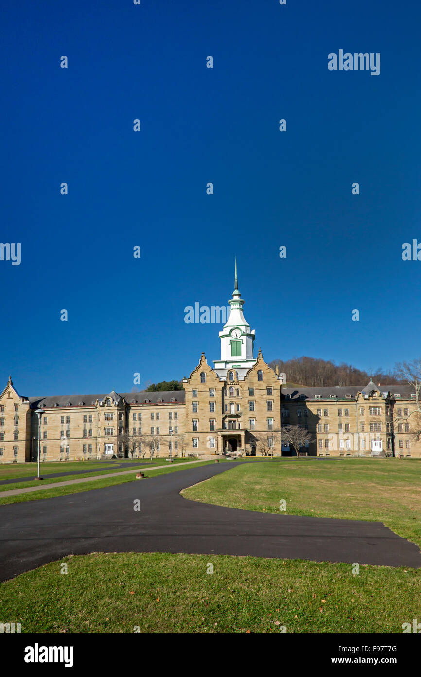 Weston, West Virginia - The Trans-Allegheny Lunatic Asylum, later known as the Weston State Hospital. - Stock Image