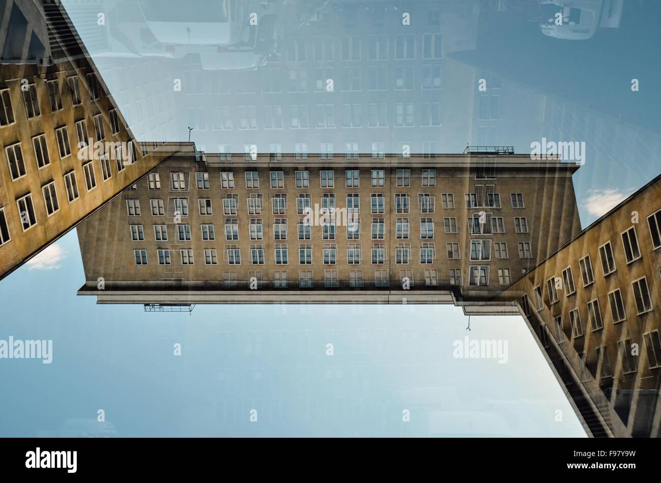Digital Composite Image Of Building - Stock Image