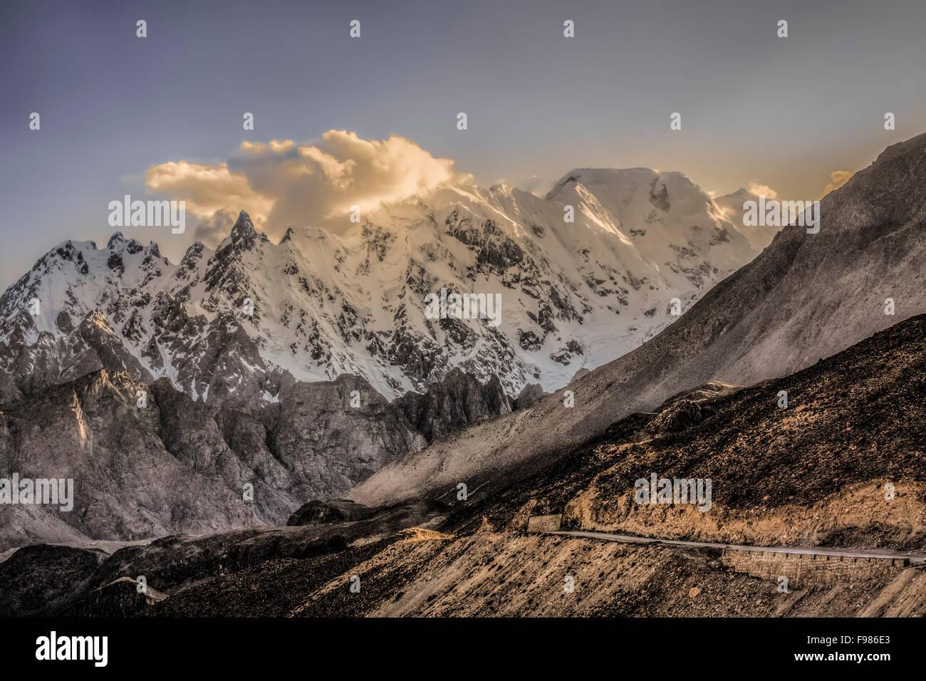 Mountains in the Karakoram Mountain range - Stock Image