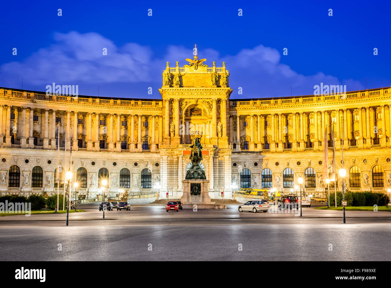 Vienna, Austria. Imperial Hofburg Palace is the former imperial palace in the center of Vienna, residence of Habsburg - Stock Image
