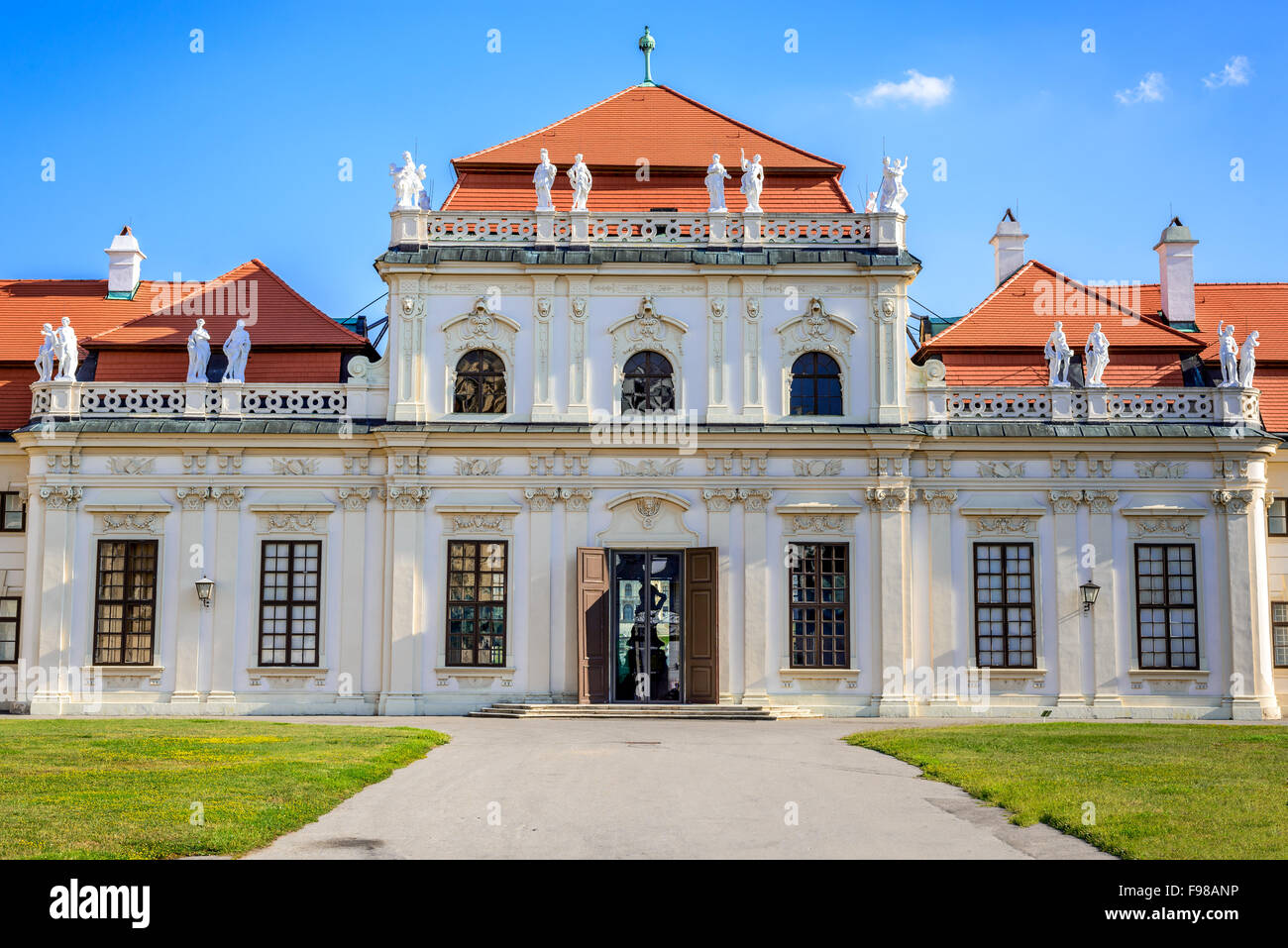 Vienna, Austria. Lower Belvedere Palace building. The Old Town is a UNESCO World Heritage Site. - Stock Image