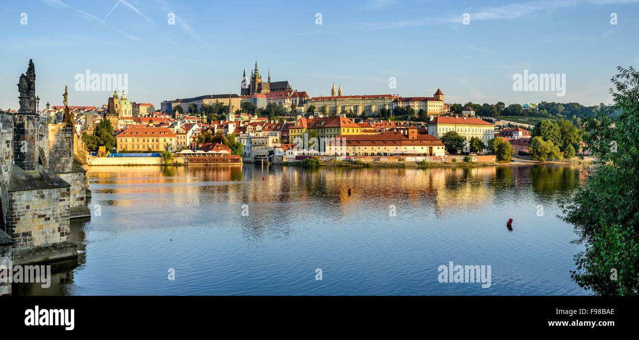 Prague, Bohemia, Czech Republic. Hradcany is the Praha Castle with churches, chapels, halls and towers. - Stock Image