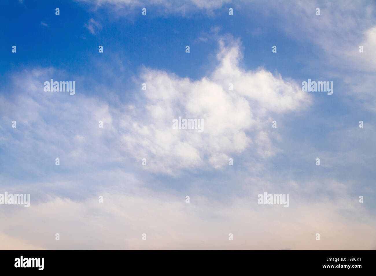 The view of dragon-like cloud in the sky. - Stock Image