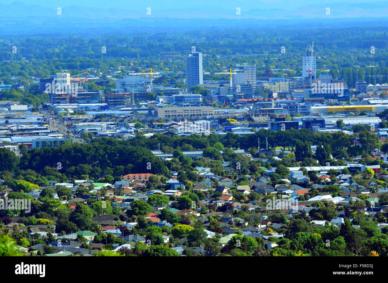 Christchurch News Photo: Christchurch Aerial New Zealand Stock Photos