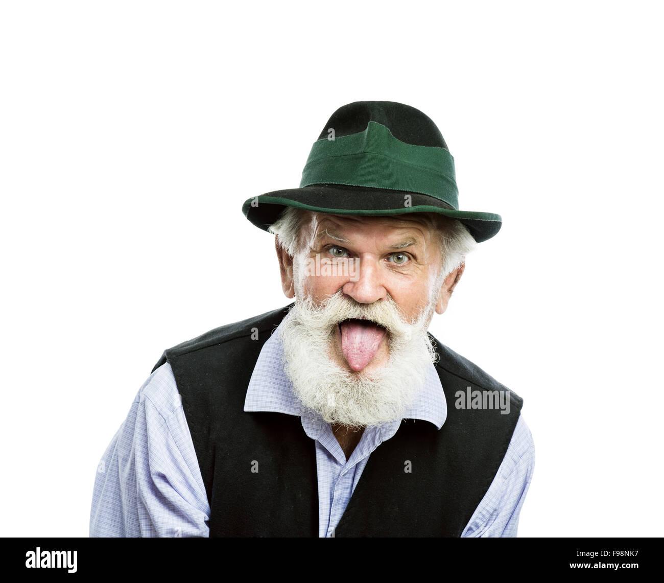 Face Old Man Sticking Tongue Stock Photos & Face Old Man ...
