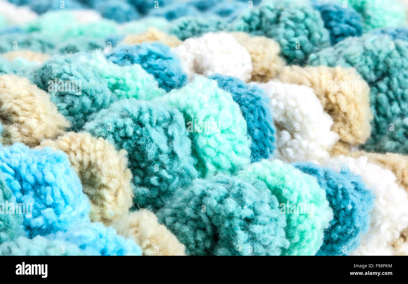 Macro closeup of a bath mat Stock Photo