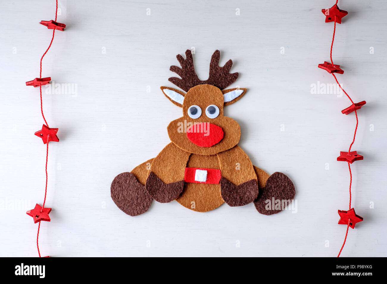 Rudolph Face Handmade Personalised Dummy Clips Christmas
