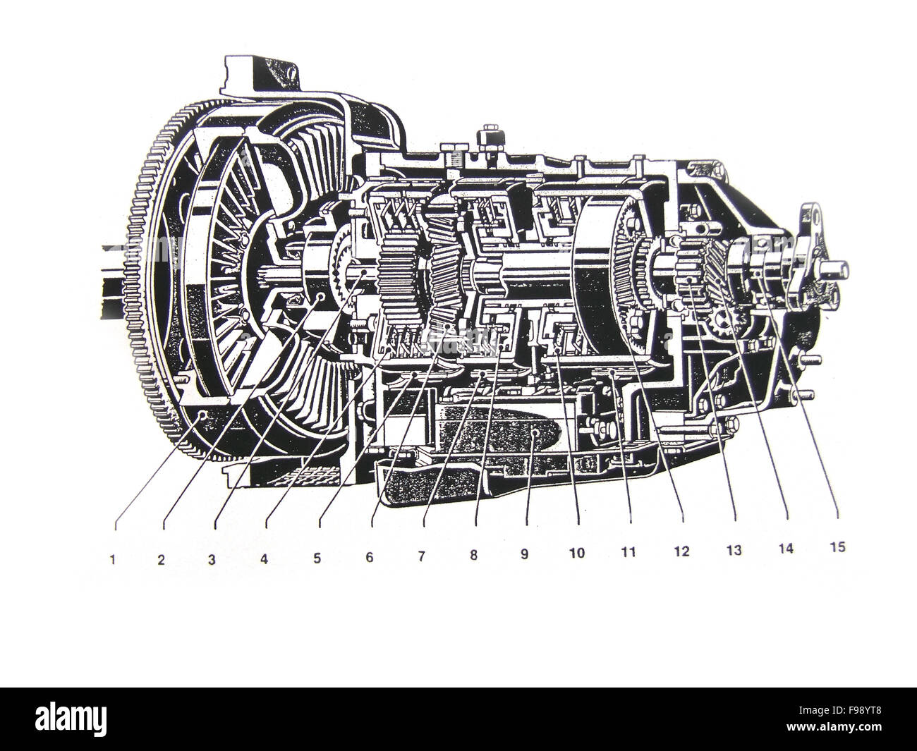 car engine technical draw on white background Stock Photo: 91781208 ...