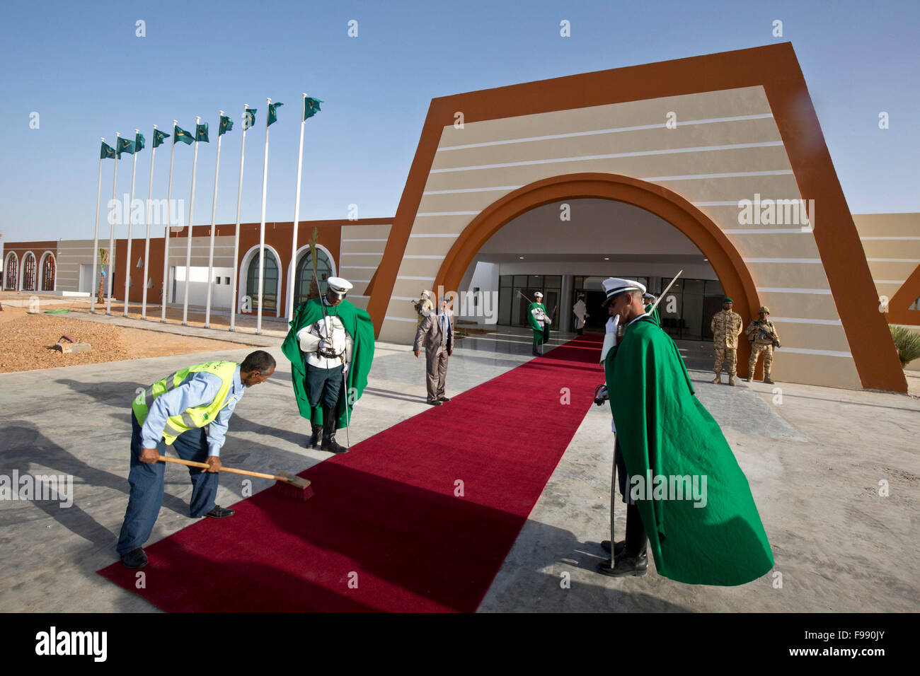The new airport of Nouakchott-Oumtounsy will open in 2016, Mauritania - Stock Image