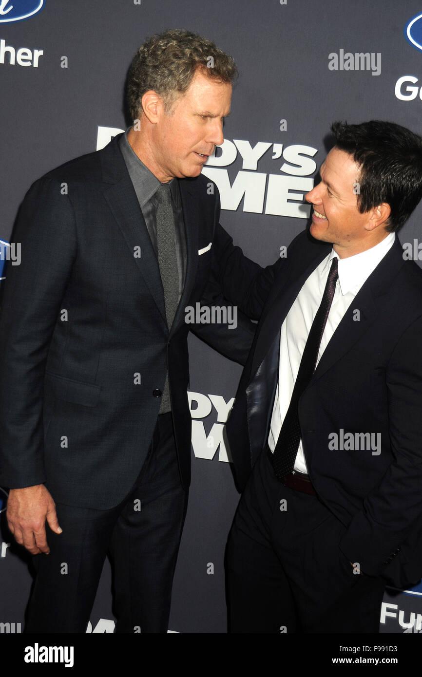 Will Ferrell Und Mark Wahlberg Bei Der Premiere Des Kinofilms Stock