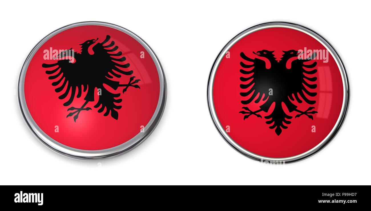 Banner Button Albania - Stock Image