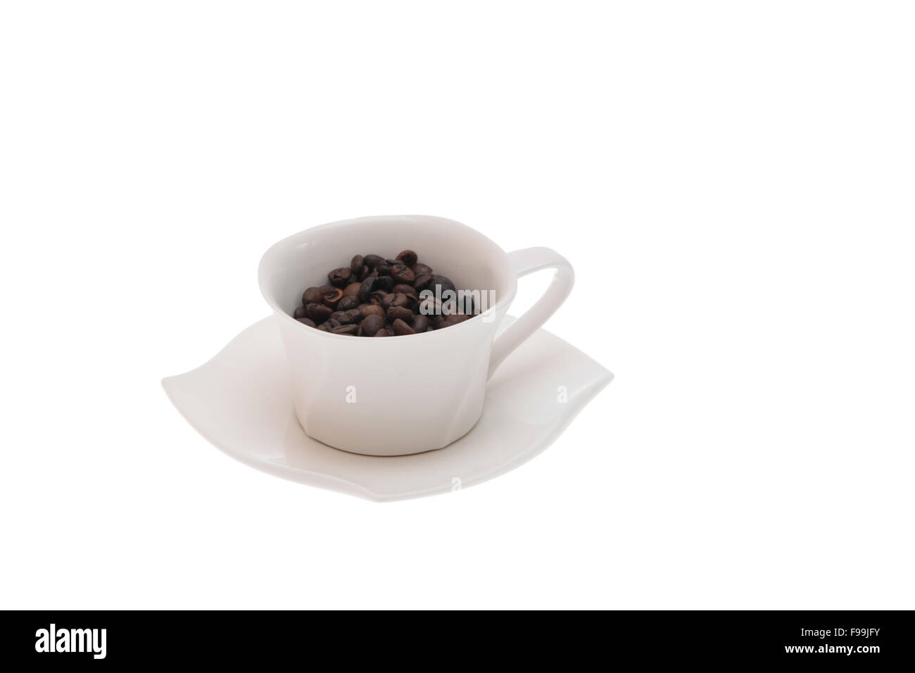 coffee beans cup - Stock Image