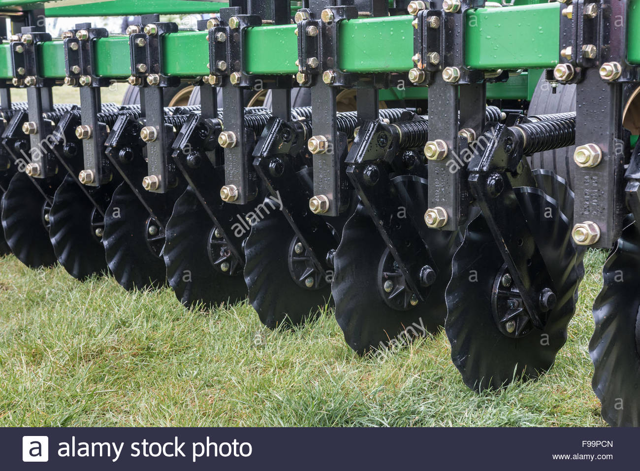 Disks of a seeding drill - Stock Image
