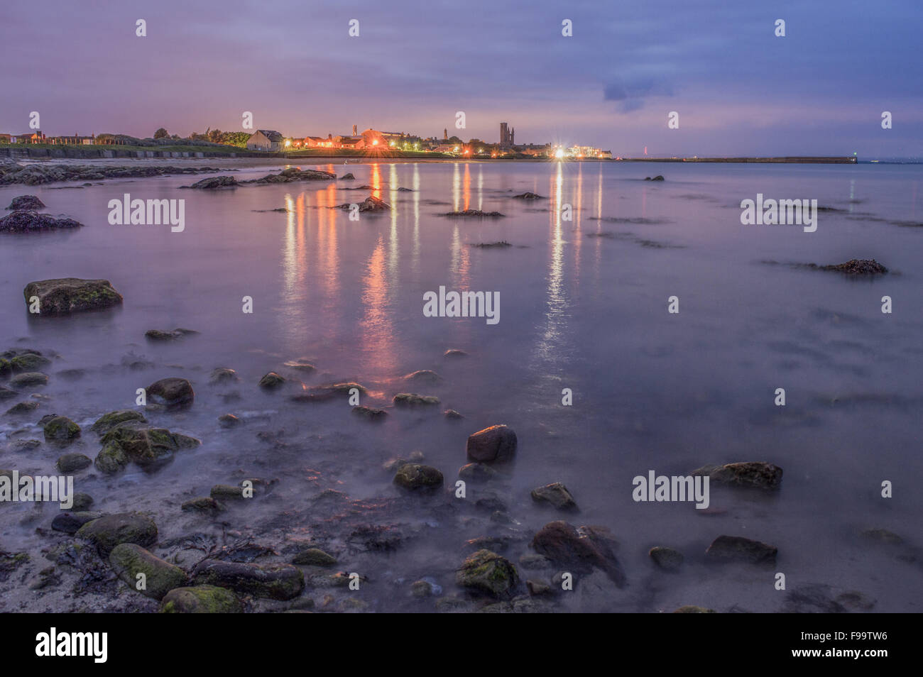 Cityscape of St Andrews, Fife, Scotland, the home of golf - Stock Image