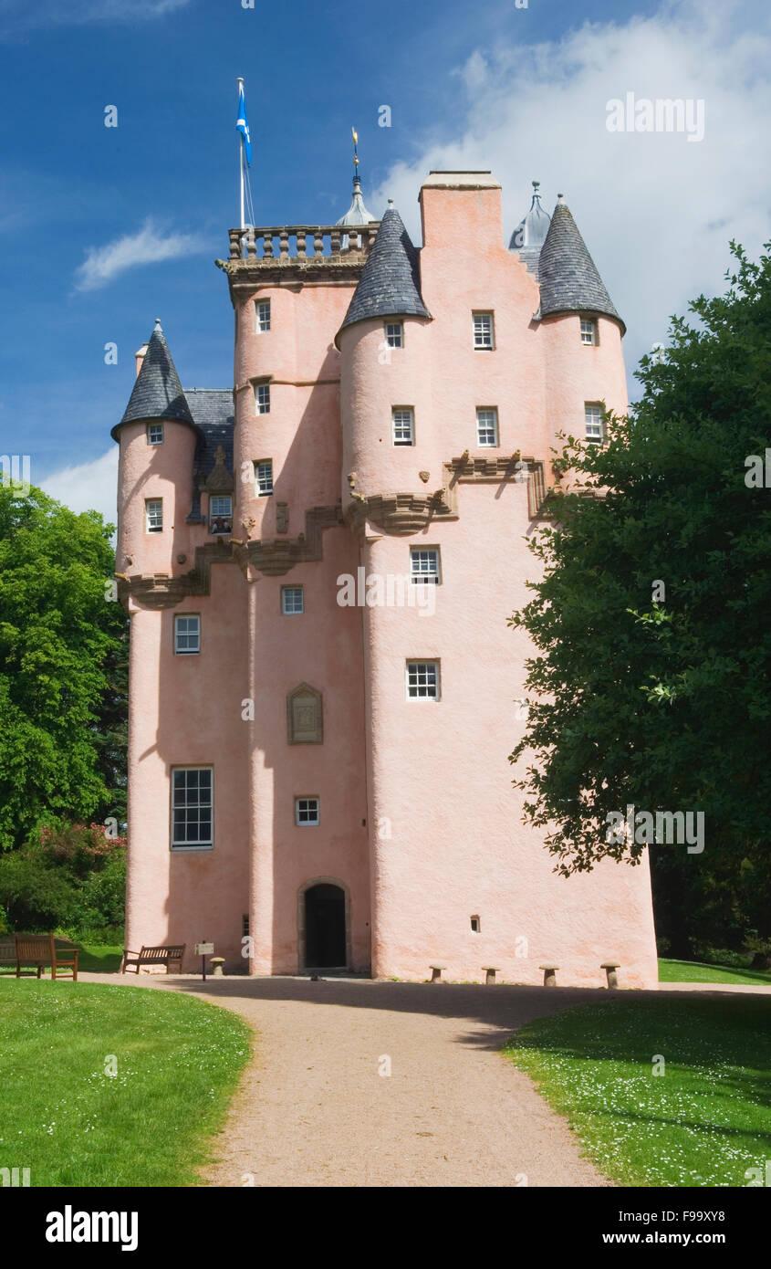 Craigievar Castle - near Alford, Aberdeenshire, Scotland. - Stock Image