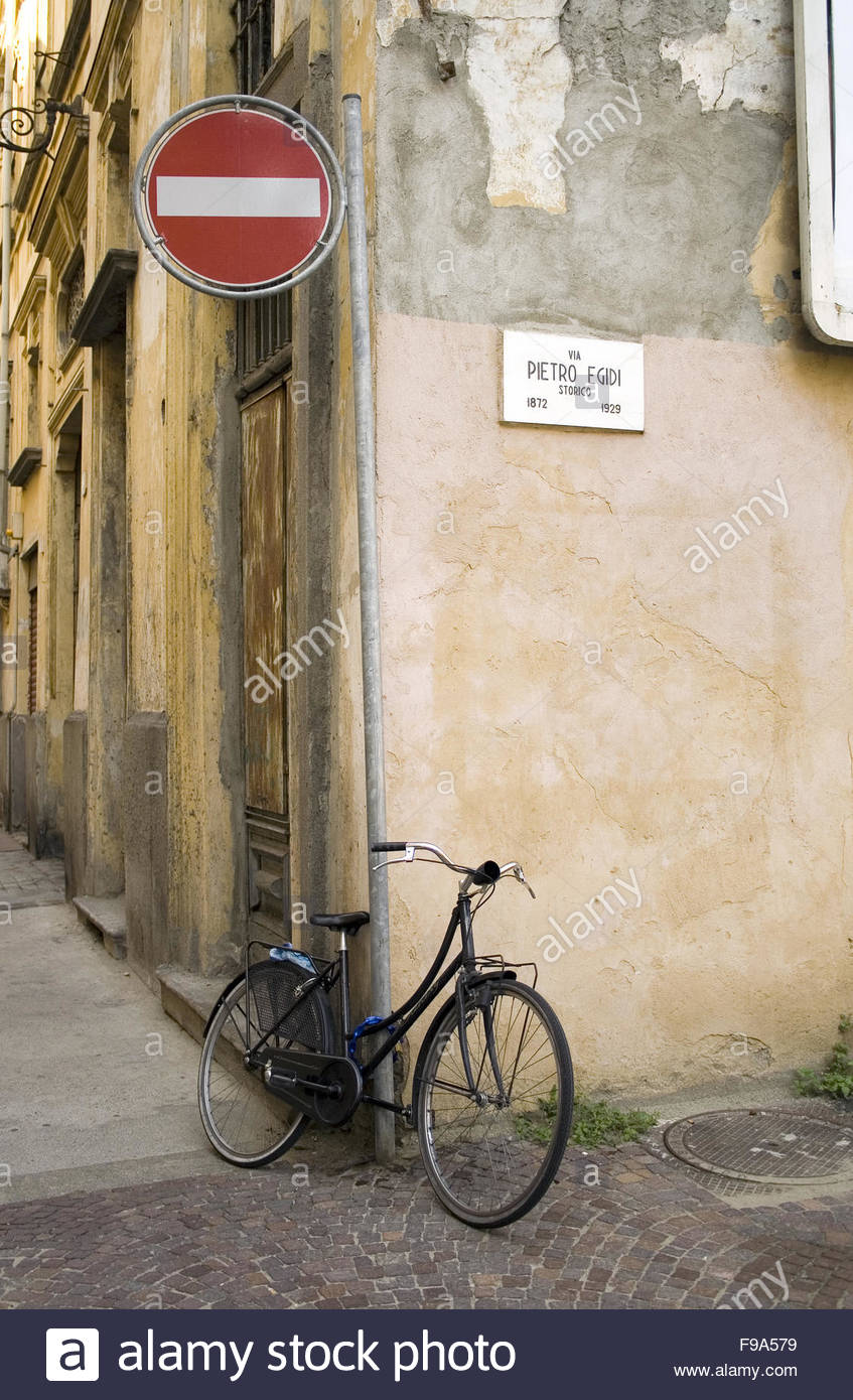 Bicycle in Turin - Stock Image