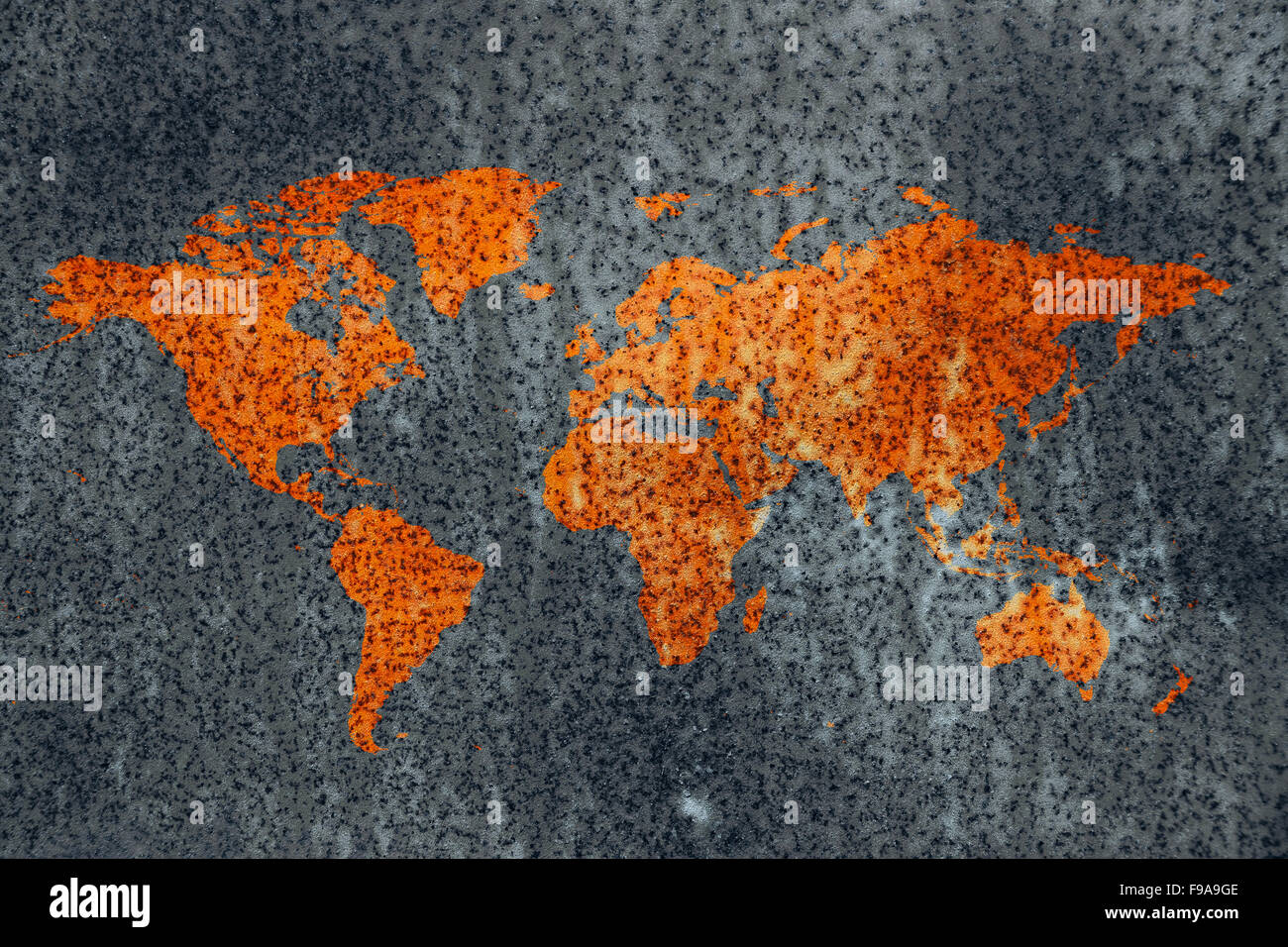 World decay world map corrosion stained rusty metal surface out of world decay world map corrosion stained rusty metal surface out of cold neutral grey background gumiabroncs Images