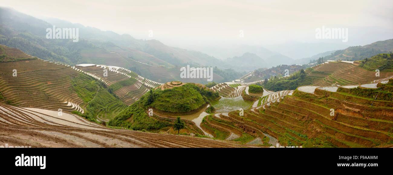 Longsheng rice terraces, China - Stock Image