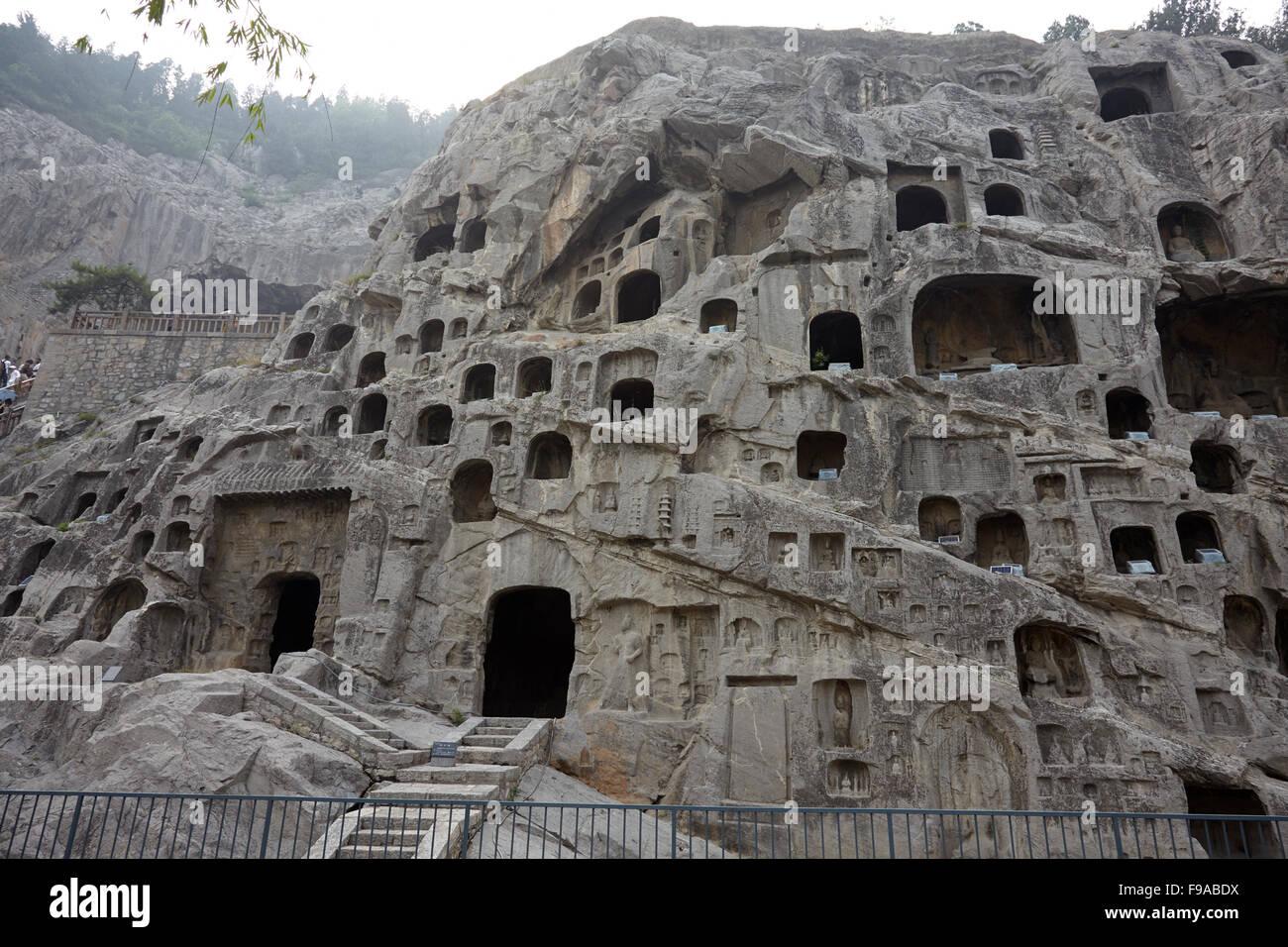 Longmen Grottoes, China - Stock Image