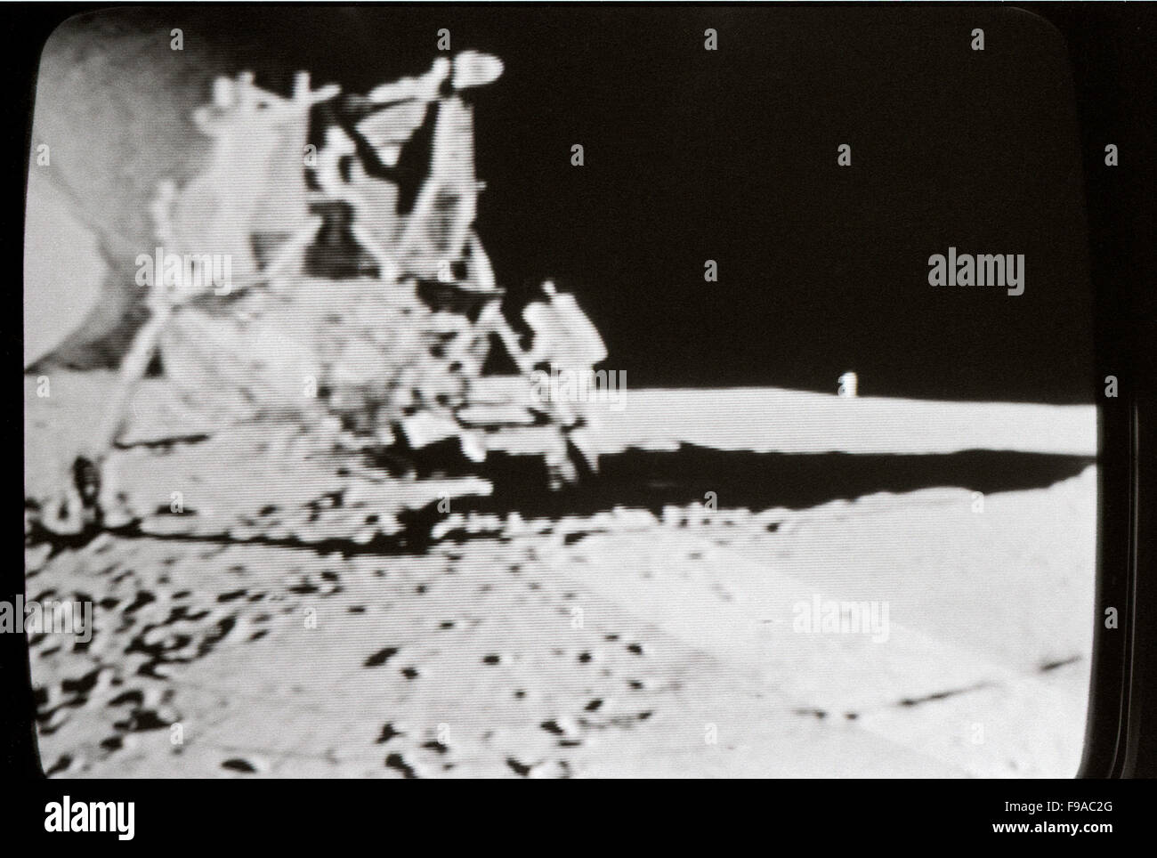 Apollo 11 Moon Landing 20 July 1969 Photographed In Actual Time On The Television Los
