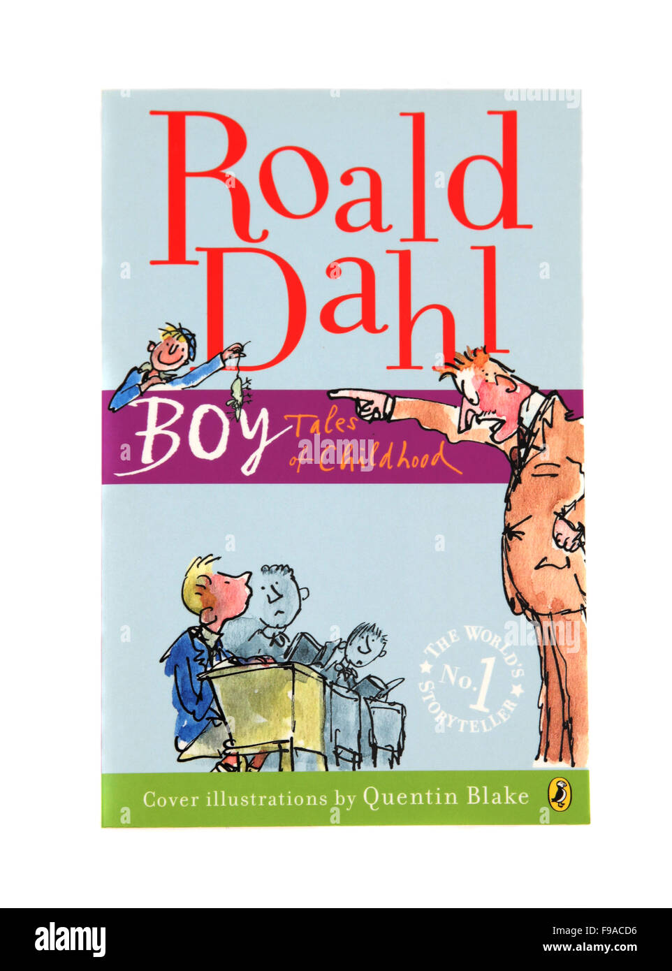 Boy Tales of Childhood, a children's book by Roald Dahl - Stock Image