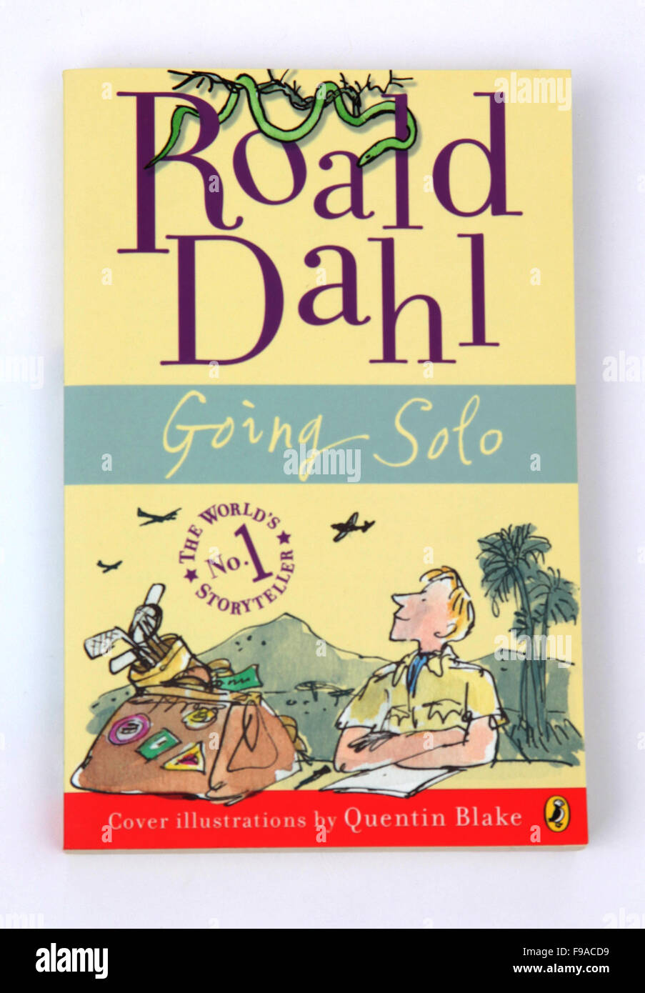 Going Solo, a children's book by Roald Dahl - Stock Image