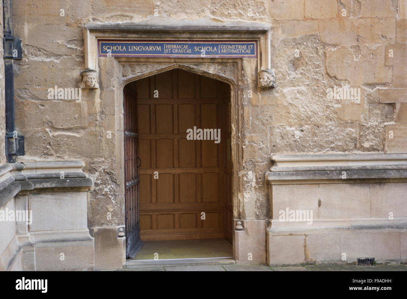 Schola linguarum: language school of Oxford University at the Bodleian Library - Stock Image