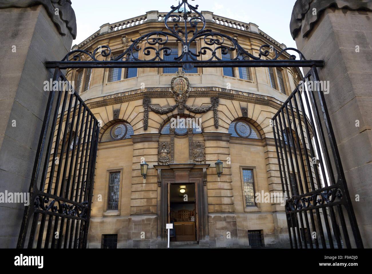 Sheldonian Theatre entrance, Oxford University Stock Photo