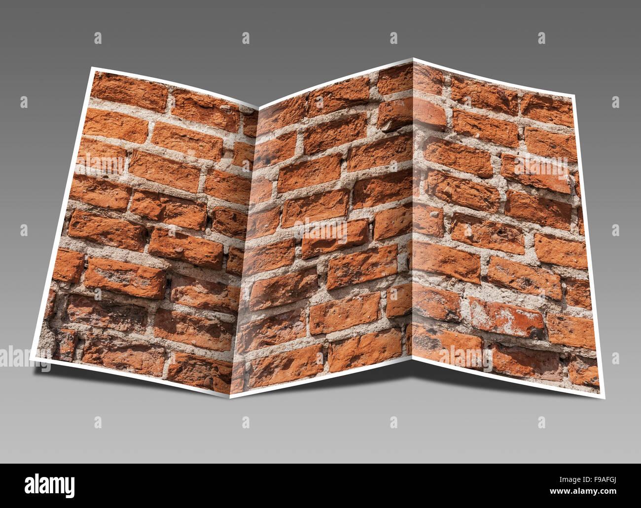 Detail photo of a brick wall - Stock Image
