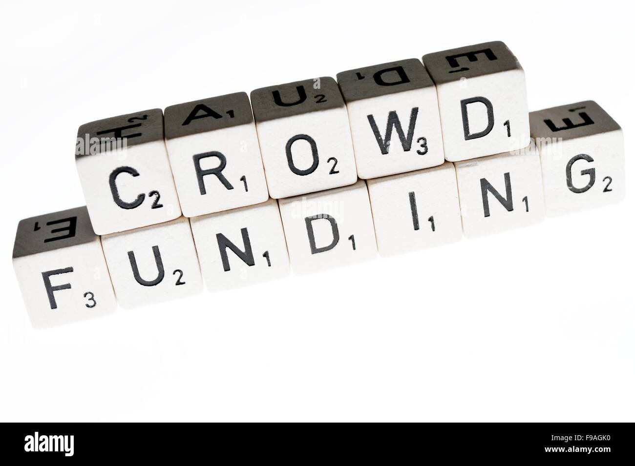 The word crowdfunding, Germany, city of Osterode, 15. December 2015. Photo: Frank May - Stock Image