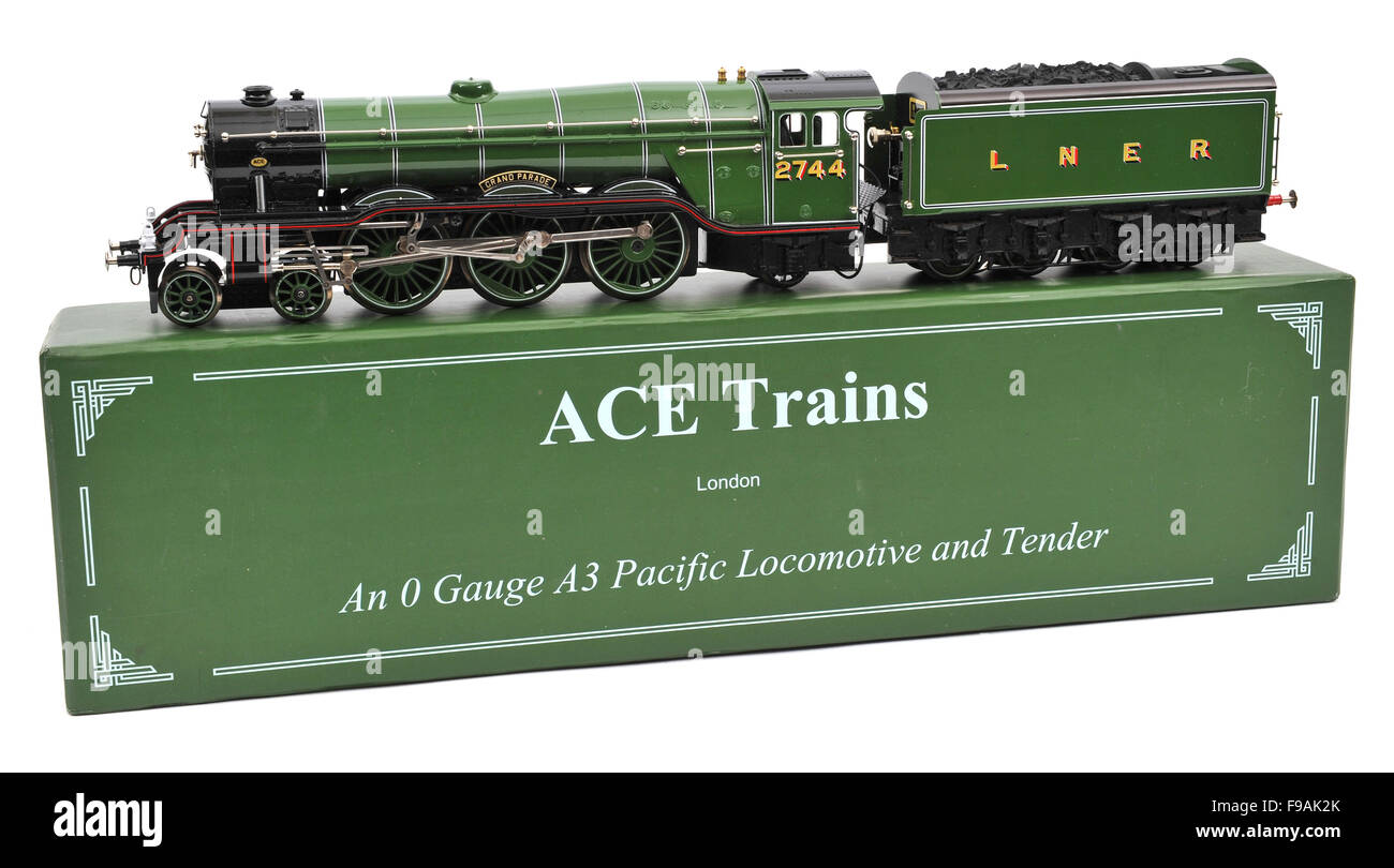 Ace Trains O Gauge LNER A3 Pacific class Locomotive and Tender model - Stock Image