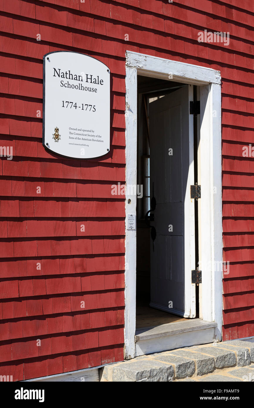 Nathan Hale Schoolhouse, New London, Connecticut, USA - Stock Image