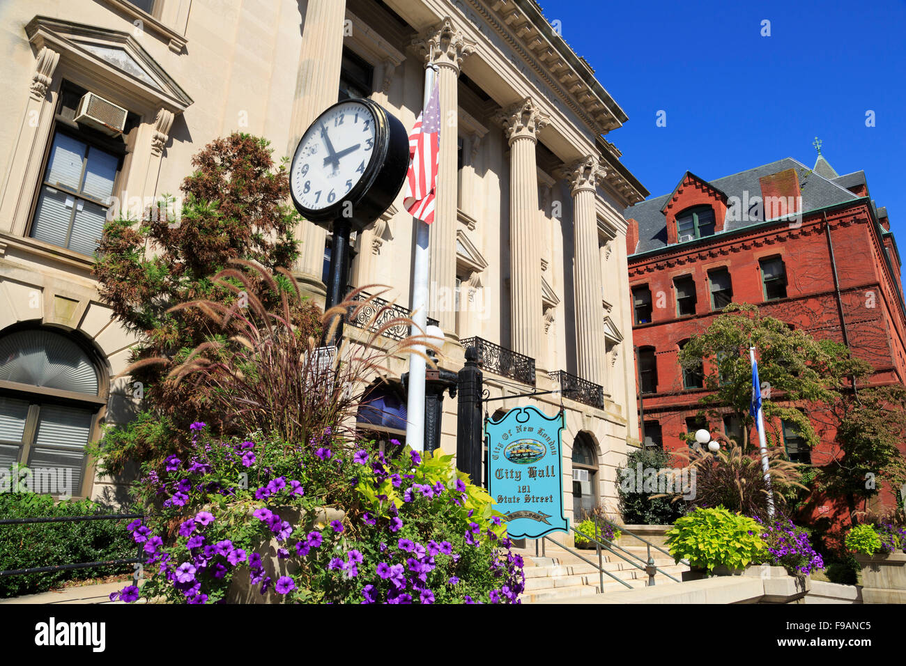 City Hall, New London, Connecticut, USA - Stock Image