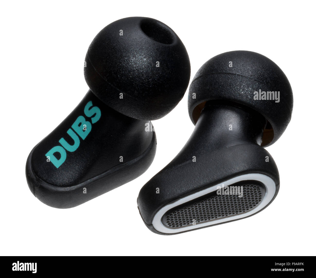 DUBS Acoustic Filters. Ear protection devices. Safety in loud environments. For concerts and clubs. Protect ears. - Stock Image