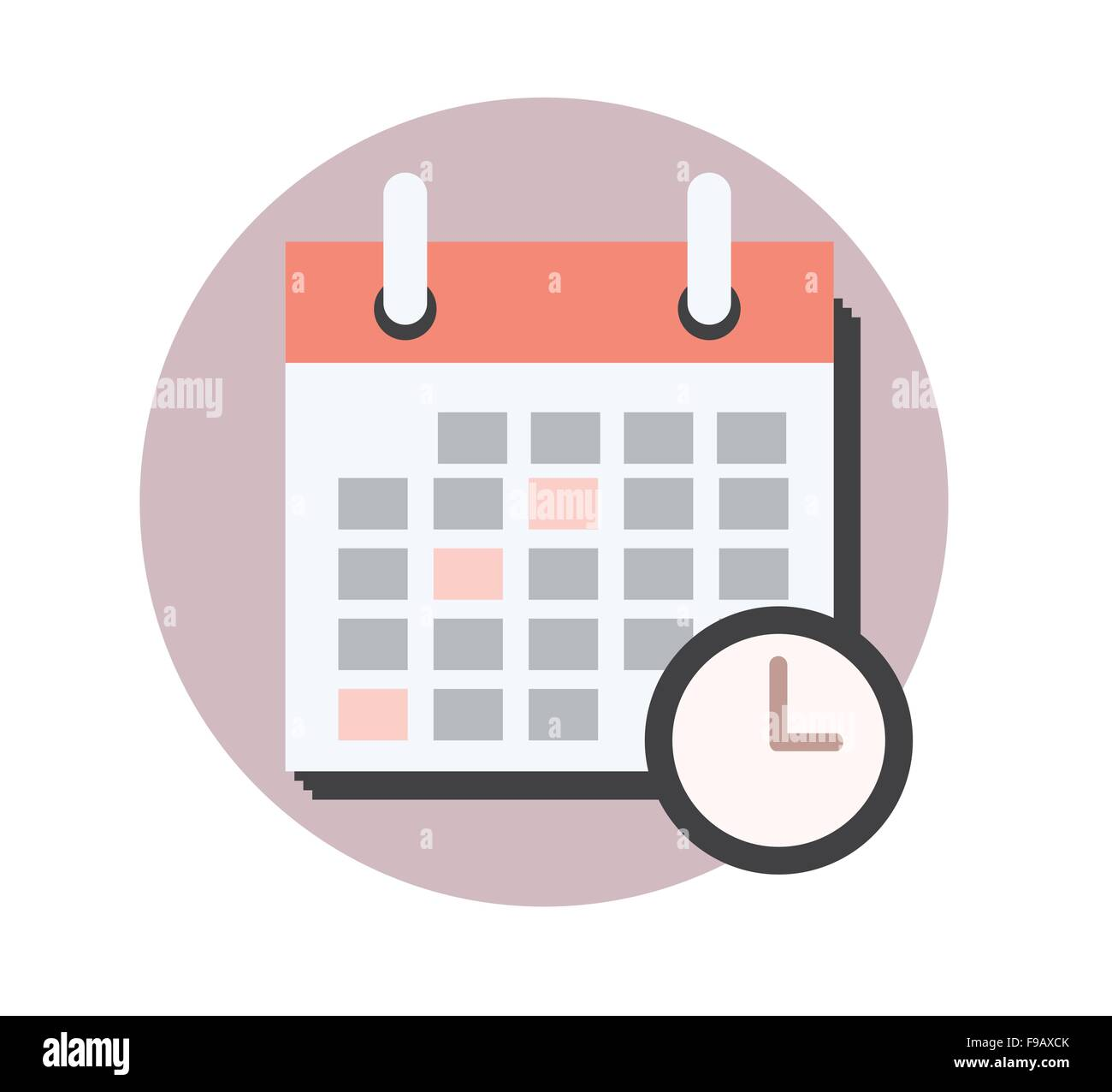 Calendario Business.Calendar Business Concept Icon Design Stock Vector Art