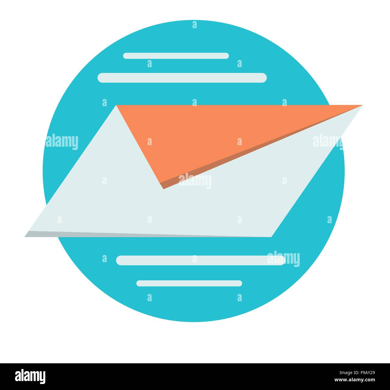 Send mail Business concept vector design - Stock Image