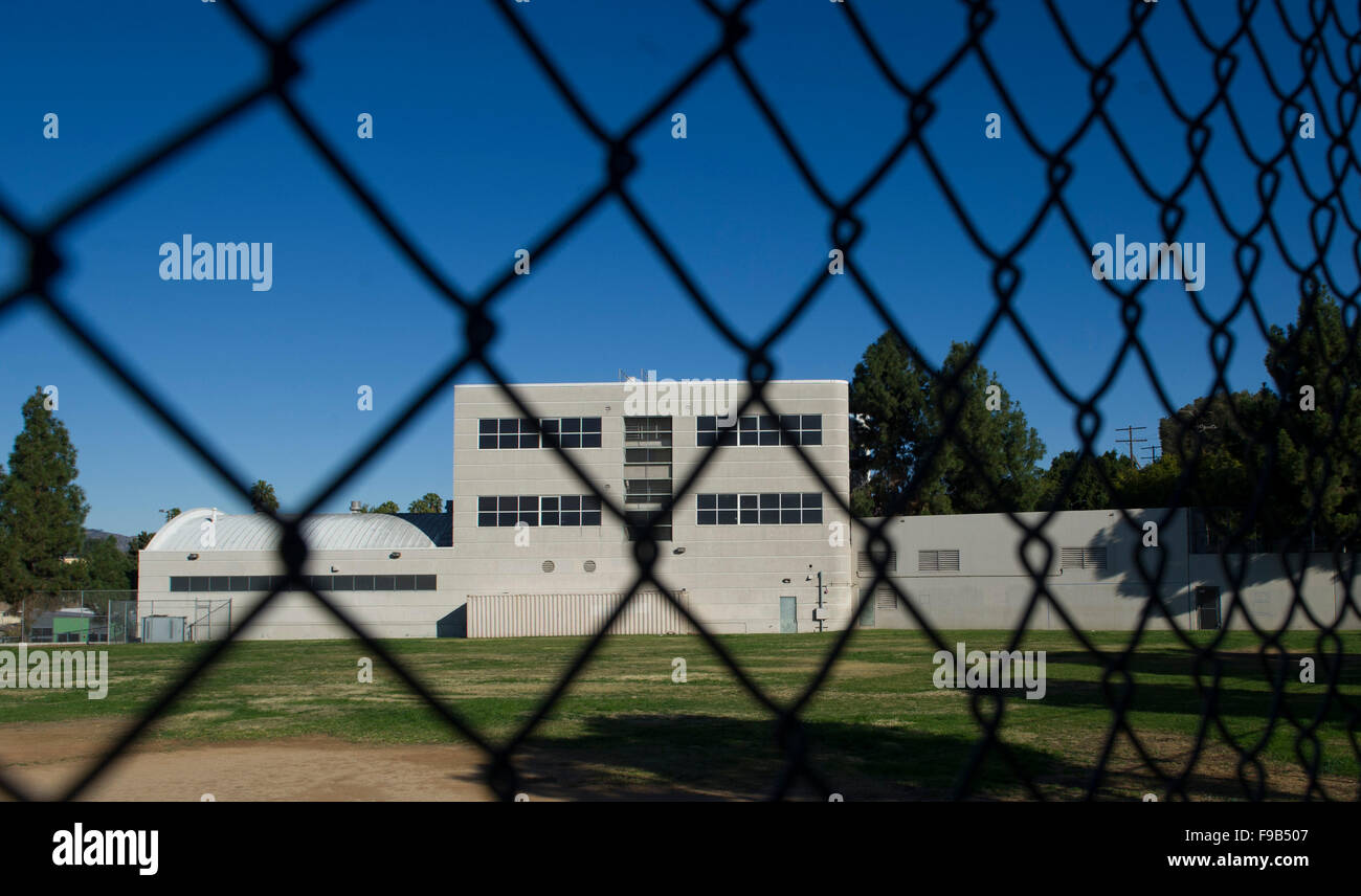 (151215) -- LOS ANGELES, Dec. 15, 2015 (Xinhua) -- The Belmont High School remain closed, in Los Angeles, the United - Stock Image