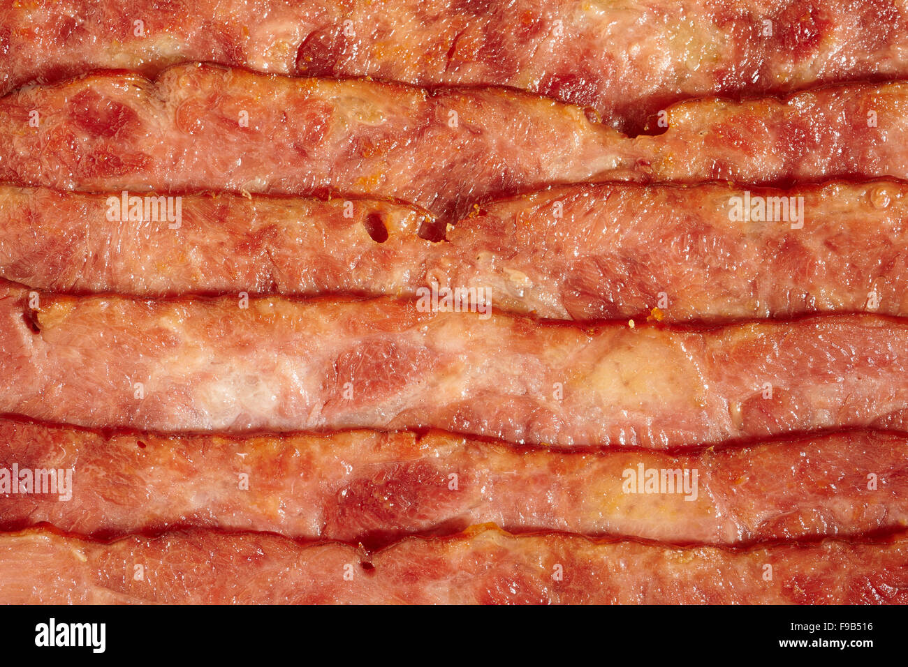 cooked turkey bacon Stock Photo