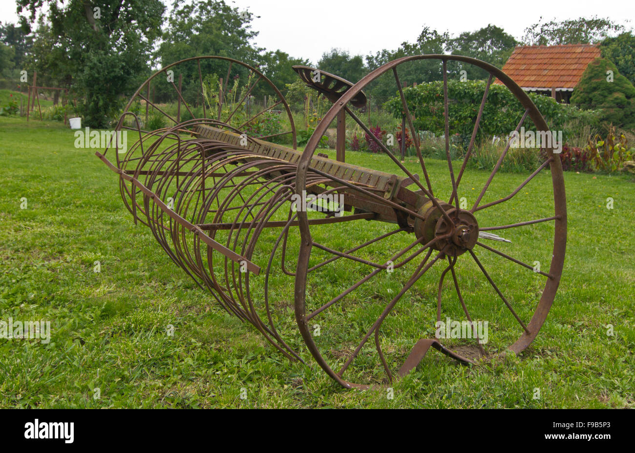 Old seeding machine - Stock Image