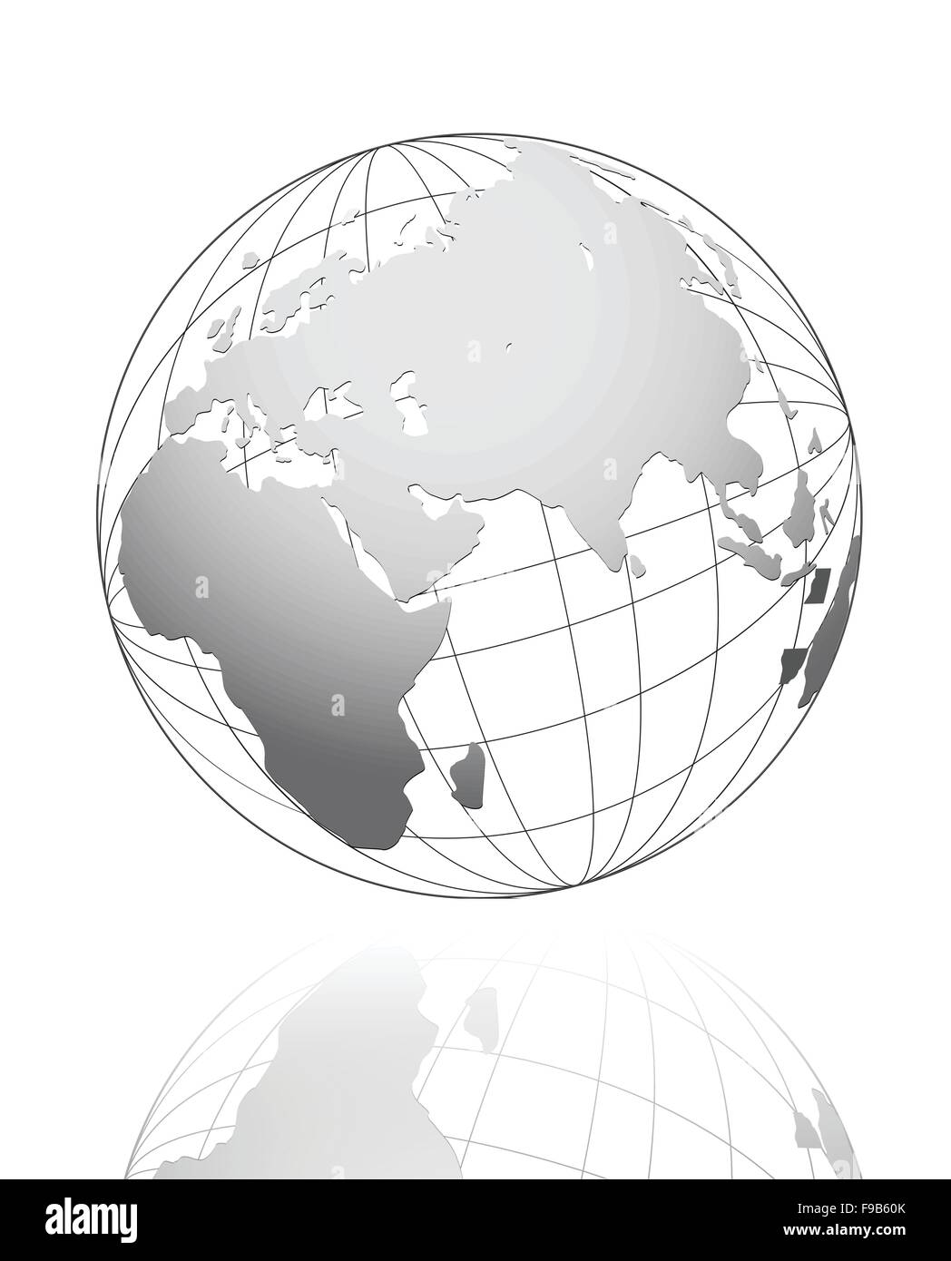 White global business concept vector design - Stock Image