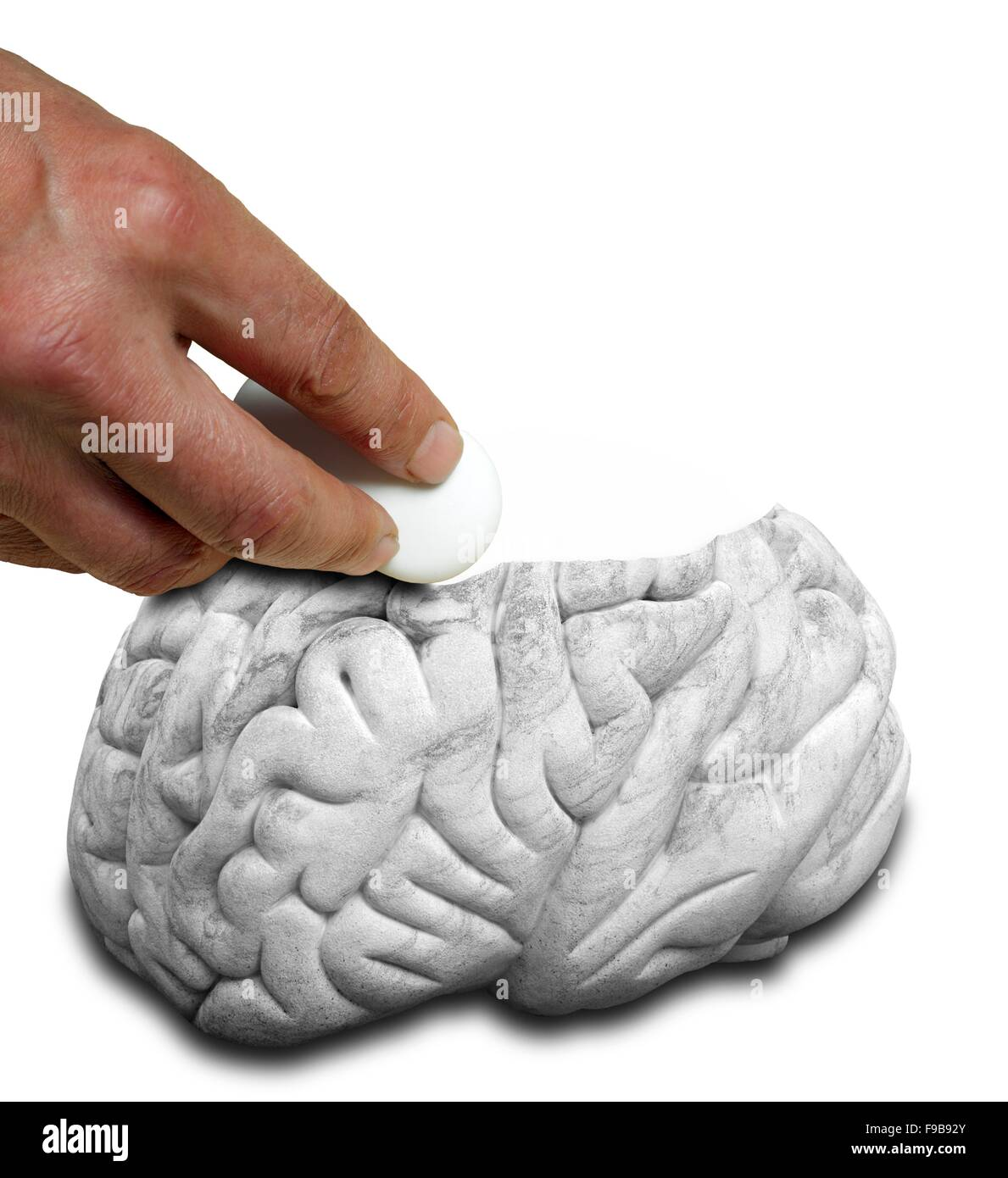Mental illness, conceptual artwork. - Stock Image