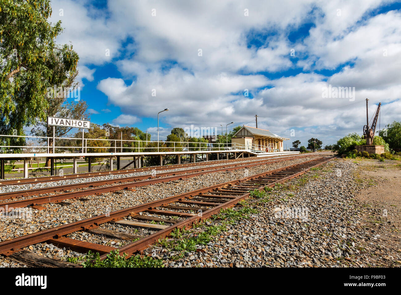 Australia, Far West New South Wales, Ivanhoe railway station - Stock Image