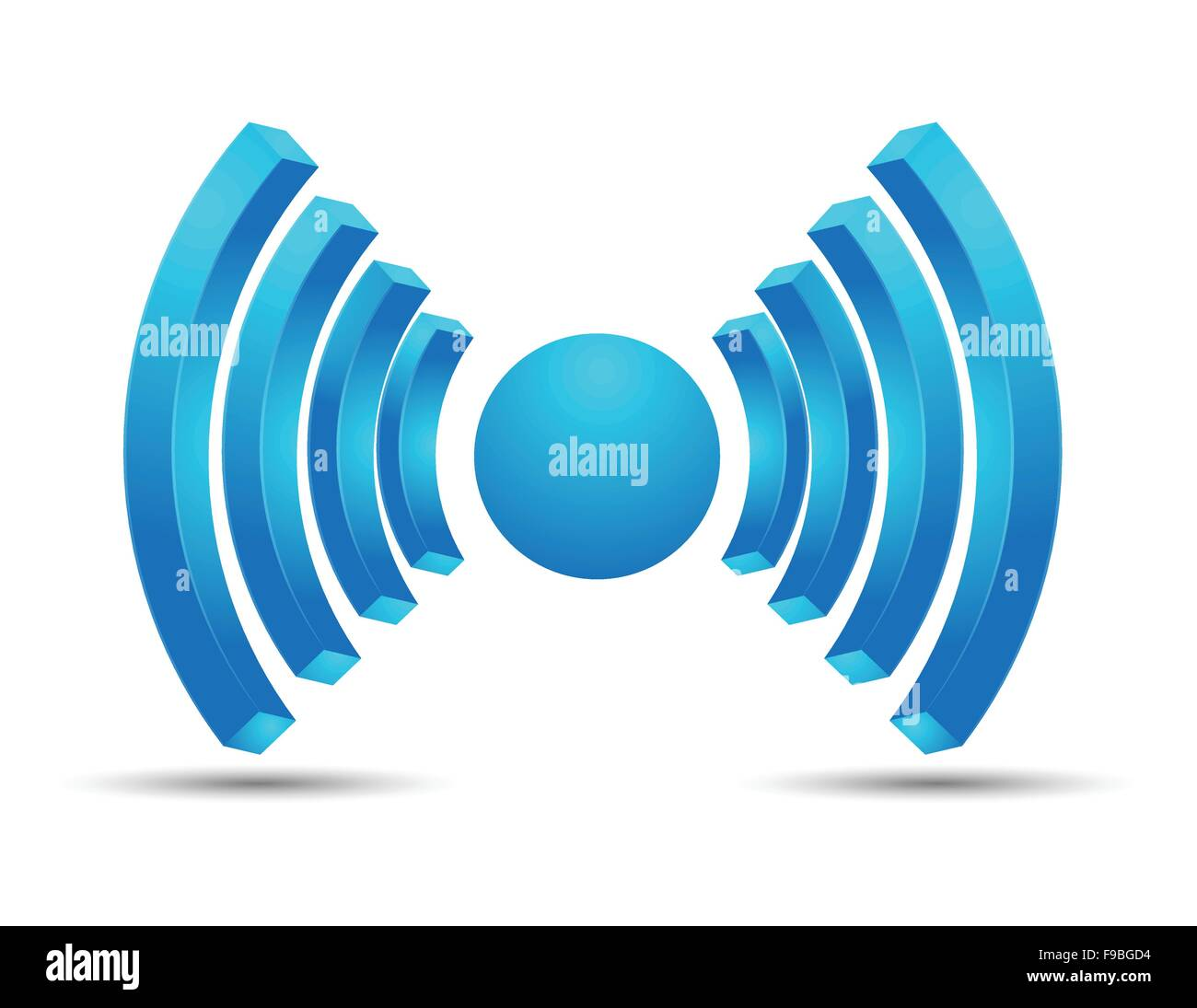 Wifi hotspot icon vector design blue color - Stock Image