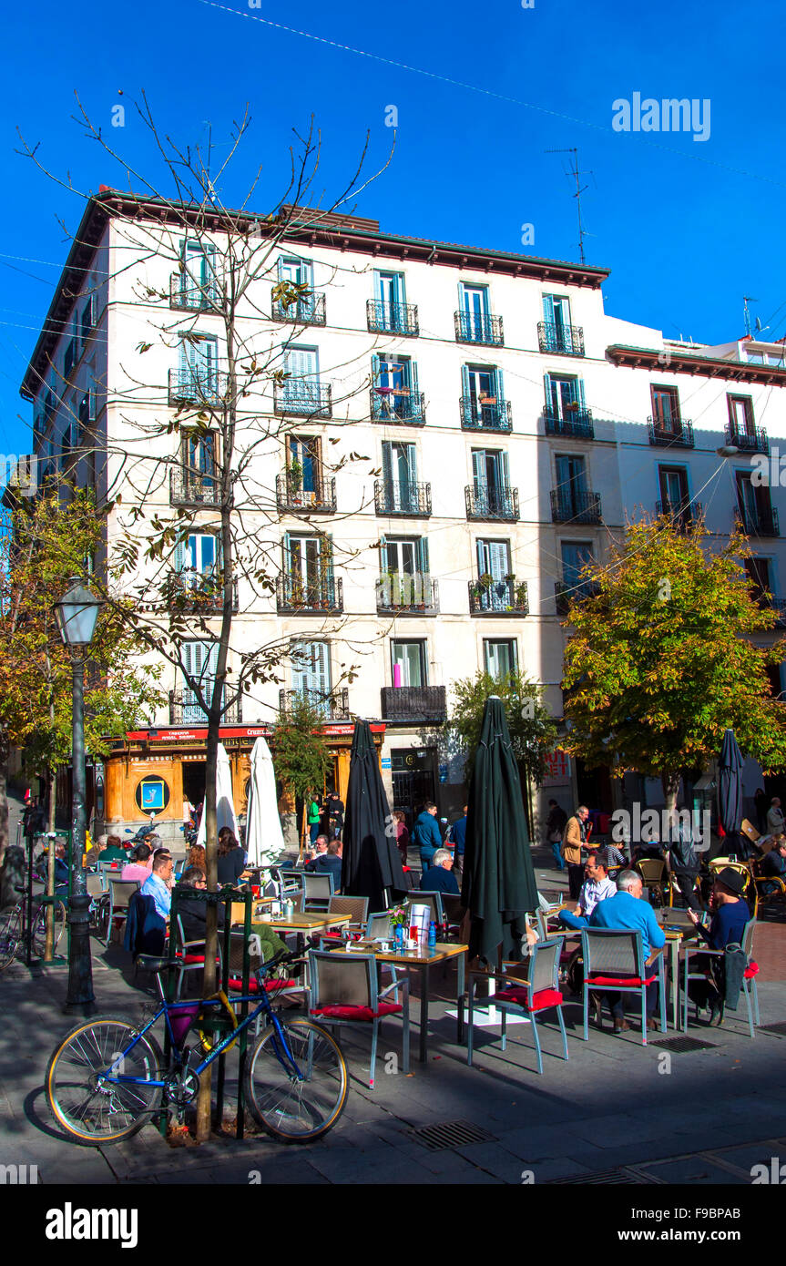 Plaza De Chueca Madrid Spain Stock Photo 91842755 Alamy