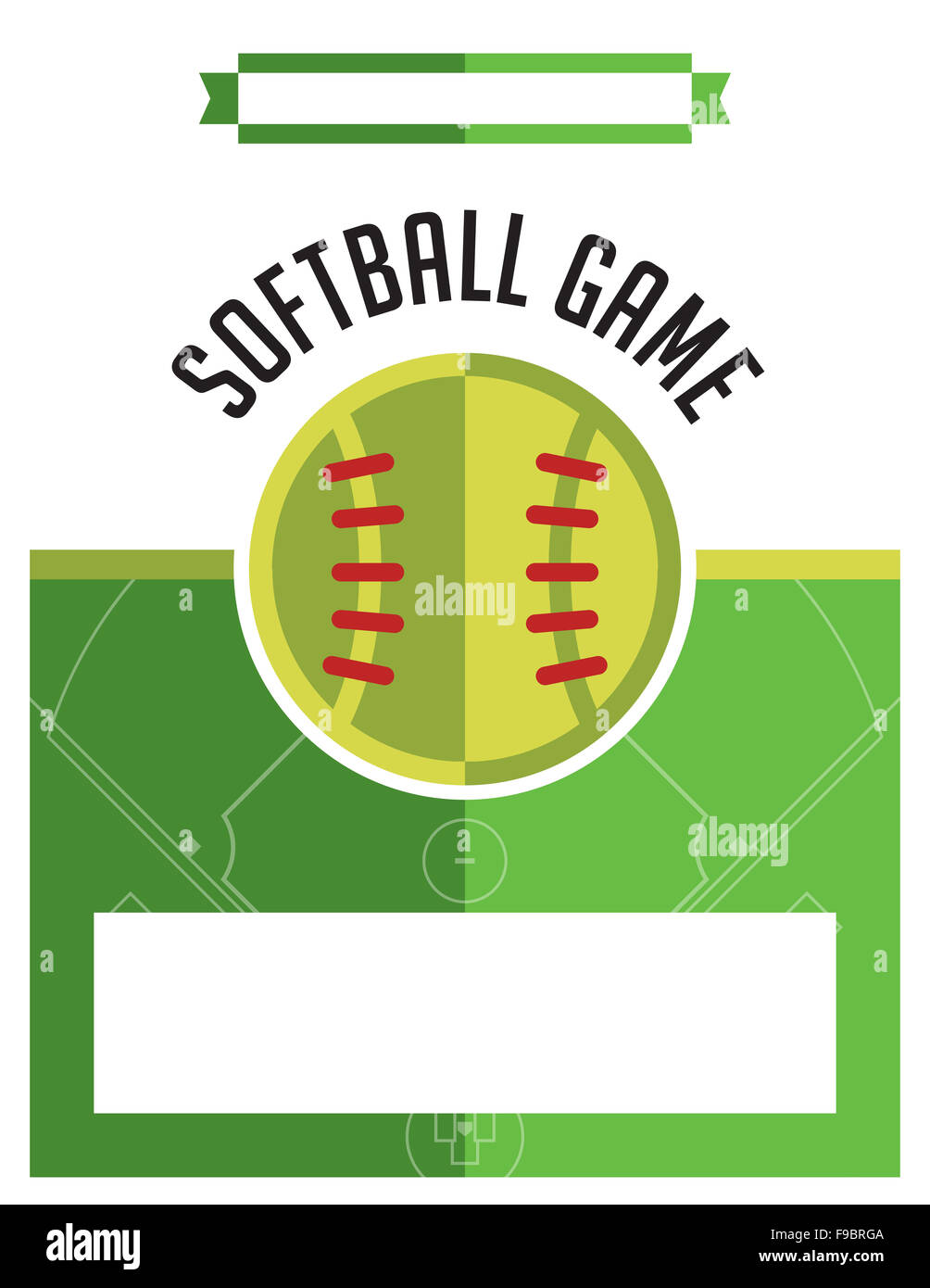 A template flyer background for a softball game. Stock Photo